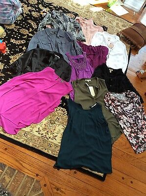 HUGE 12 pc Lot of Womens Juniors Large shirts tops