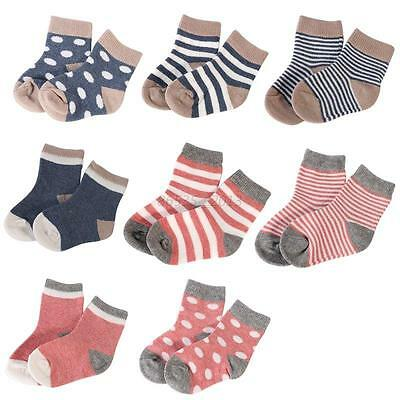 4Pairs Baby Boy Girls Infant Toddler Soft Sole Crib Shoes Newborn Shoes Socks