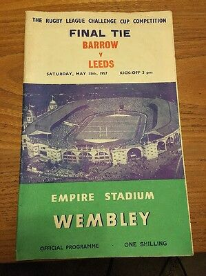 Barrow v Leeds 1957 Rugby League Challenge Cup Final Programme