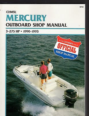 Mercury Outboard 1990 to 1993 Shop Manual,  3 to 275 HP - see description
