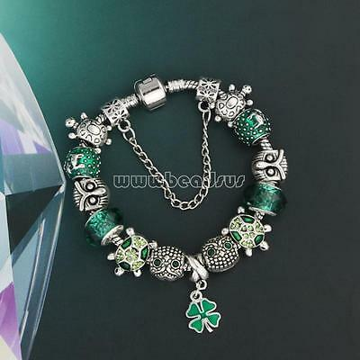 Chic Crystal European 925 Silver Bracelet With Charms For Women DIY Jewelry-0