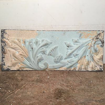 "1 - 29"" x 12"" Antique Ceiling Tin Tile Vintage Reclaimed Salvage Re Purpose Art"