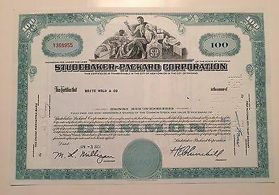 Studebaker-Packard Corporation...stock Certificate...1961...