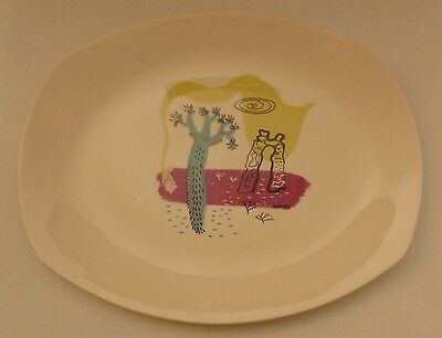 Midwinter Pottery 1950s Desert scene meat serving platter Charles Cobelle design