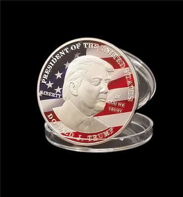 2017 New President Donald Trump Inaugural Silver Commemorative Novelty Coin B02