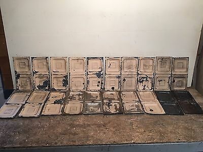 "Lot of 20 pc 12"" x 6"" Antique Ceiling Tin Tile Vintage Reclaimed Salvage Art"