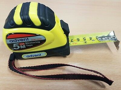 5M 16ft Advent Tape Measure with Magnetic End Hook Clip 5 Metre (25mm Wide) DIY