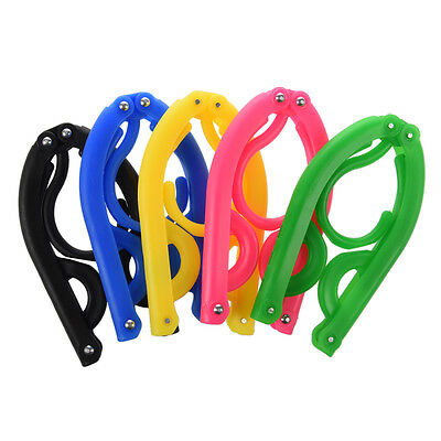 5pcs Clothing Hangers Portable Folding Plastic for Travel Camping open air T8X