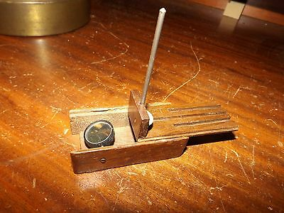 Rare Antique J.j. Bausch Excelsior Pocket Dissecting Simple Microscope Pat. 1874