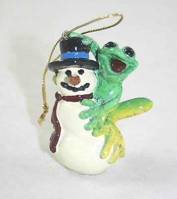 Kitty's Critters Ornament Frog and Snowman Frosty NIB