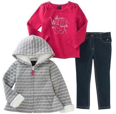 NEW Nautica Girls 3 Piece Casual Outfit Wear Sets - VARIETY