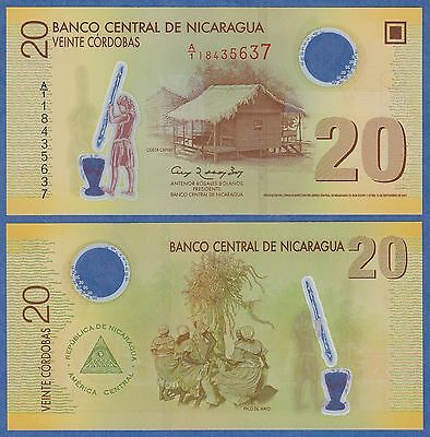 Nicaragua 20 Cordobas P 202 2007 UNC & CRISP WITH   Free Shipping
