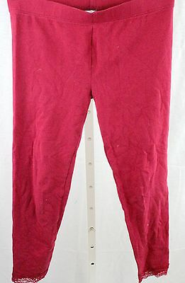 The Children's Place Red Lace Hemmed Leggings - Girl's Large (10/12)