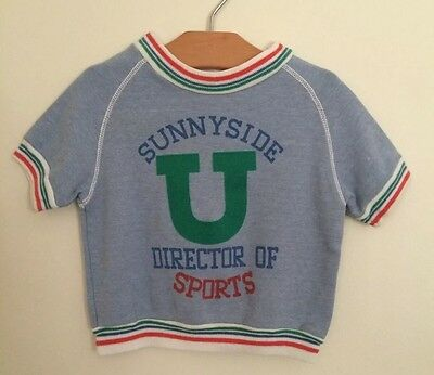 Vintage Boys CARTERS Boys Short Sleeved Sweatshirt 4T