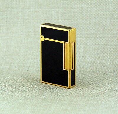 Original S.T. DUPONT Chinalack Gold pl. Feuerzeug gas lighter Laque de Chine TOP