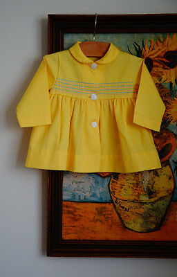 Vintage 1950s 1960s FAWN TOGS Girls Light Jacket Smocked Style EASTER 12 M