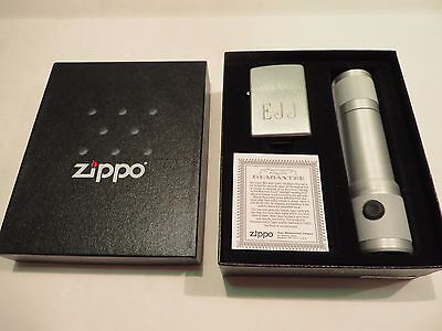 New Zippo Lighter and Flashlight Gift Set (Engraved)