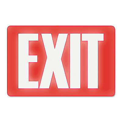 Photoluminescent Exit Sign Exit 1 ea