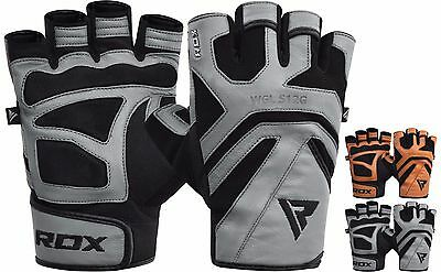 RDX Weight Lifting Training Gym Gloves Fitness Workout Crossfit Bodybuilding S12