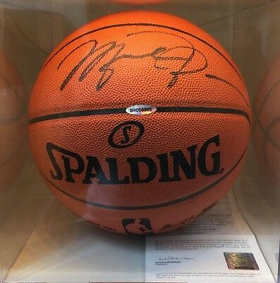 Michael Jordan Signed Basketball Autograph UDA COA Upper Deck Certified Leather