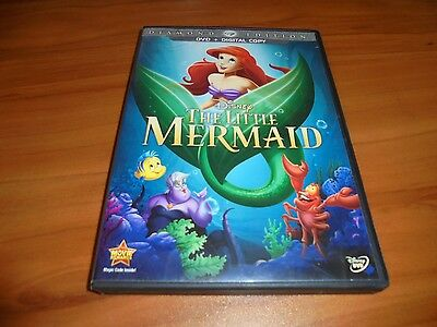 The Little Mermaid (DVD, 2013, Diamond Edition Widescreen) Used Disney