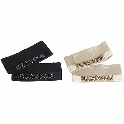 MAX MARA Women's Jazz Crystal Embellished Cube Collection Cuffs OS $265 NWT