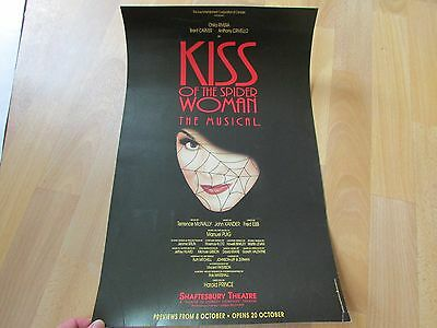 KISS of the SPIDER Woman the Musical Original SHAFTESBURY Theatre Poster
