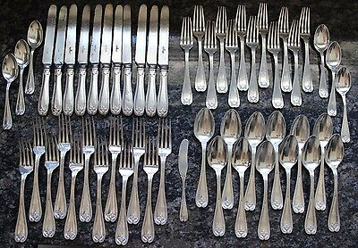 HUGE 54 Pc Tiffany Co Antique Sterling Silver Colonial 1895 Flatware Set 3455g