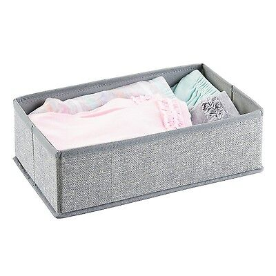 mDesign Fabric Baby Nursery Closet Organizer for Clothes Blankets Stuffed... NEW