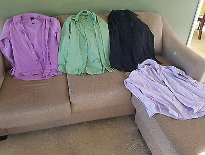 Mens clothes size 32-33 mixed lot of 4 shirts (1412)