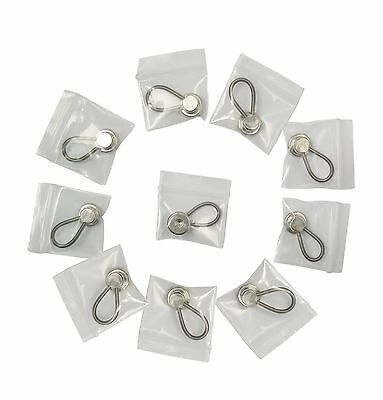 ShoppeWatch Neck Tie Collar Extenders 10-pack (Metal Button Extender) Ext... NEW