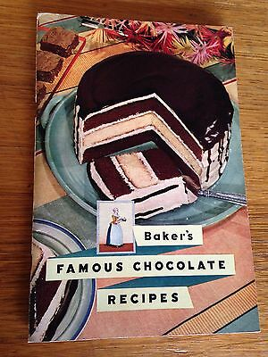First Edition 211 BAKER'S Famous Chocolate Recipes Booklet~1936 General Foods