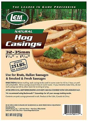 LEM Products 141 8 oz. Vacuum Sealed Bag - Hog Casings for 25 lbs. meat NEW