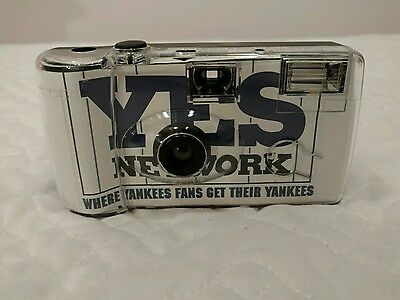 NY Yankees Plastic Disposable Camera  YES Yankees Entertainment Sports
