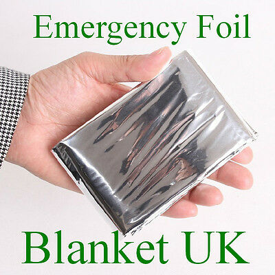 Emergency Foil Blanket Blankets First Aid Kit 204 X 130 Cm Hiking Camping New