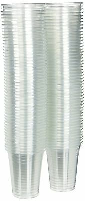 12 oz Plastic Clear Drink PET Cups 100 Count NEW