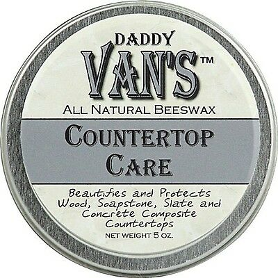 Daddy Van's All Natural Beeswax Countertop Care 5oz NEW