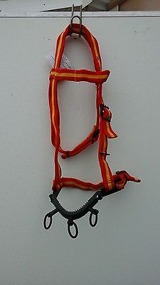 Training/ control lunging caveson w/ jointed steel nose band average horse /cob