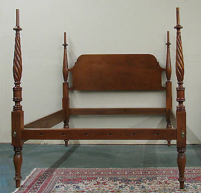 Antique Rope Twist Sheraton Field Bed Standard Queen Size