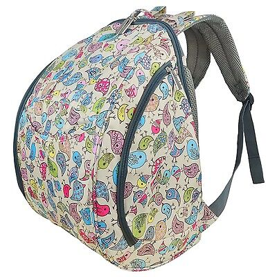 ECOSUSI Large Baby Diaper Backpack Changing Bag Colorful Yellow Bird NEW
