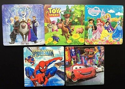 Kids Jigsaw Wooden Puzzle Disney Cars Toy Story Frozen Spiderman Priness ozstock