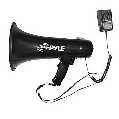 PYLE-PRO PMP43IN 40 Watts Professional Megaphone/Bullhorn with Siren and ... NEW