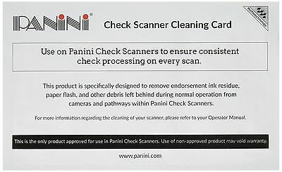 Panini Check Scanner Cleaning Cards featuring Waffletechnology (15 cards) NEW