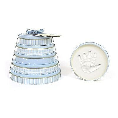 Child to Cherish Handprints Tower Of Time Kit in Blue NEW