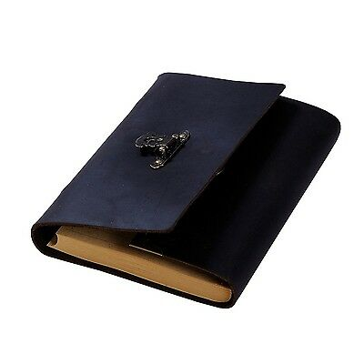 Aoske Classic Genuine Leather Notebook6.9x4.8 inch Kraft Paper Handmade T... NEW