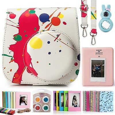 CAIUL 7 in 1 Instax Mini 8 8+ Camera Accessories Set (Colorful Painting I... NEW