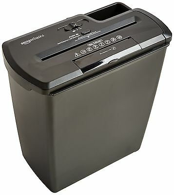 AmazonBasics 8-Sheet Strip-Cut Paper CD and Credit Card Shredder NEW