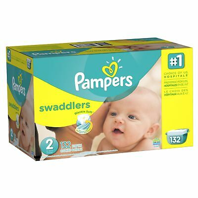 Pampers Swaddlers Diapers Size 2 132 Count NEW