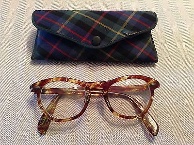 Vintage Tortoise Brown Gold Eyeglasses With Case Liberty 42/22