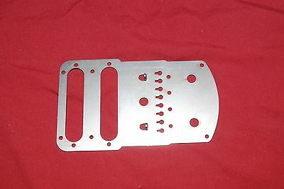 1957 Fender control cover bridge plate Stringmaster Steel reproduction  NEW
